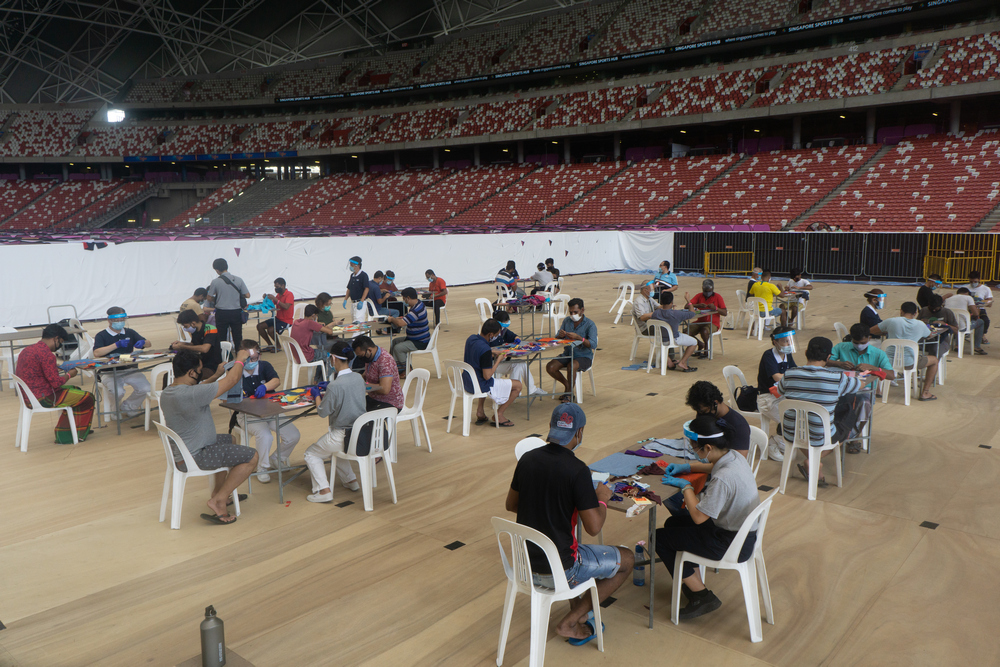 The event is held at a spacious venue with good ventilation. (Photo by Bernard Ng Jia Han)