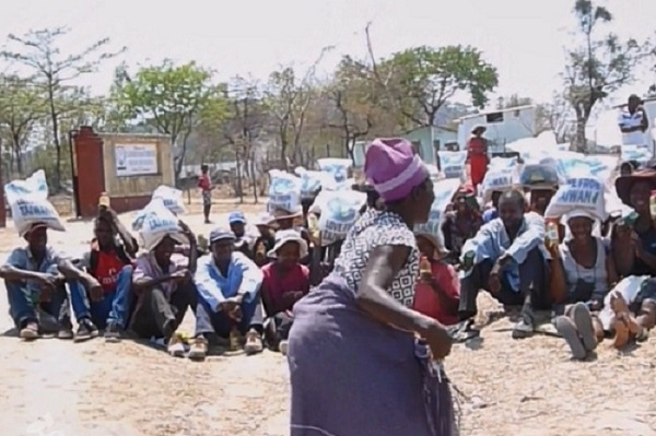 Villagers in Zimbabwe Overjoyed Upon Receiving Food Aid